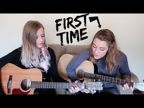 teaching my sister how to play guitar!
