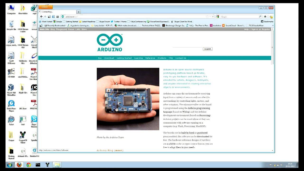 Arduino tutorial : Installing & running program