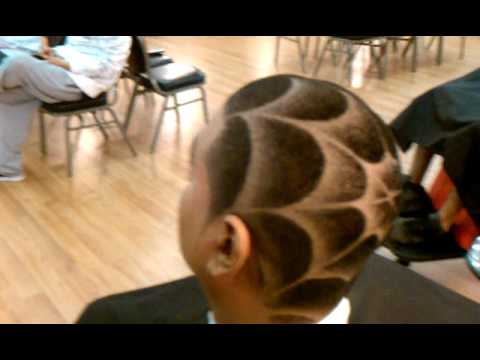 Spider web haircut