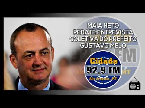 Alto Araguaia| Em entrevista, ex-prefeito Maia Neto rebate prefeito Gustavo Melo