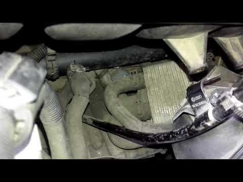 Замена датчика коленвала (датчик частоты). Датчика уровня масла Porsche Cayenne VW Touareg Q7