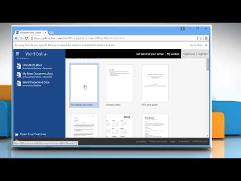 How to use Microsoft® Word Online (Part 1)
