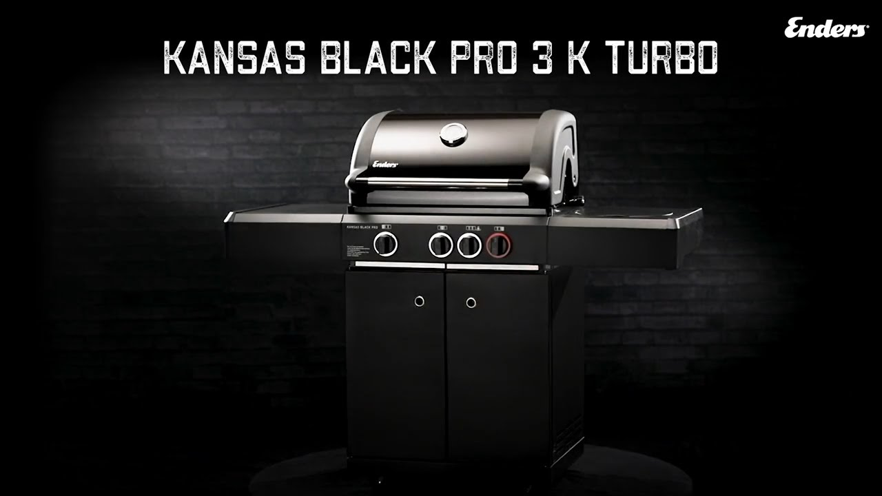 Enders Gasgrill Kansas Black Pro 3 K Turbo : Enders gasgrill kansas k pro turbo« black kw mit