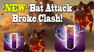 *NEW* Bat Spell Attack Broke Clash -- 8 Hounds + Bat Spell! Clash of Clans December Update - TH10