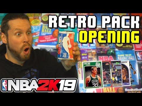 Opening Retro Basketball Packs NBA 2K19 Draft