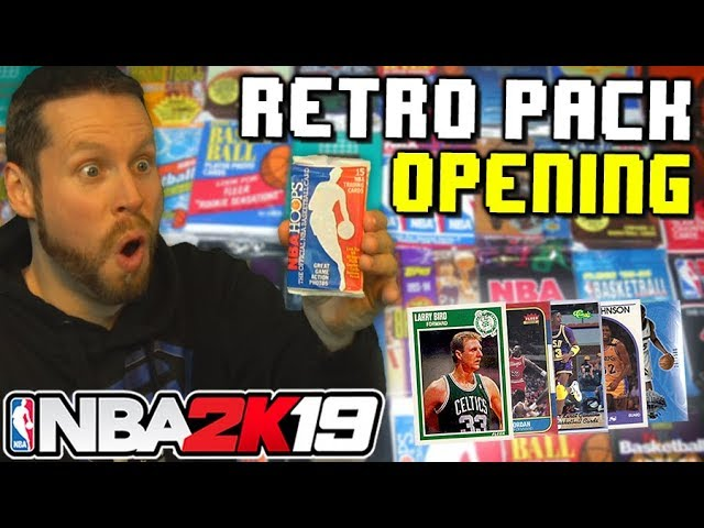 Opening Retro Basketball Packs NBA 2K19 Draft
