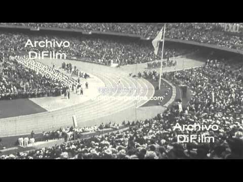 Ceremonia de apertura de los Juegos Olimpicos de Mexico 1968