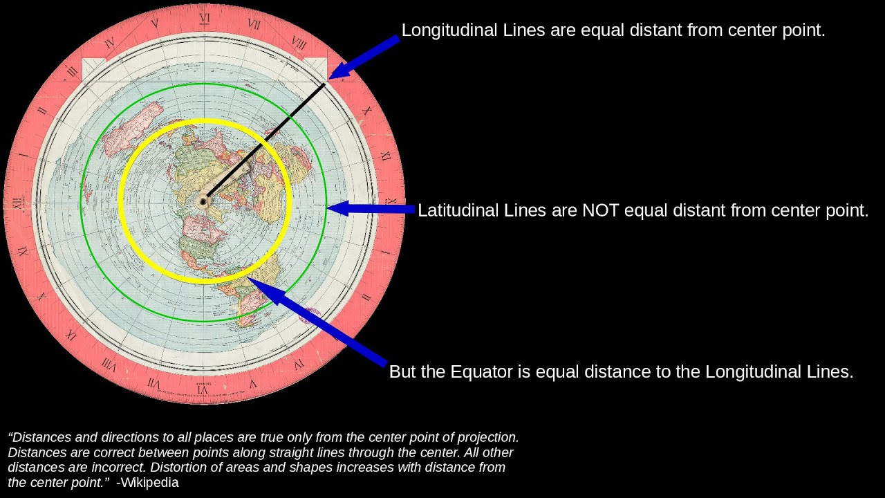 The azimuthal equidistant map is the flat earth youtube gumiabroncs Image collections