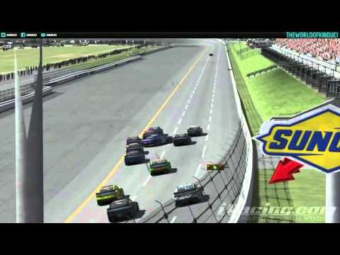 iRacing Nascar Class B fixed at Talladega - Stay off the yellow line!