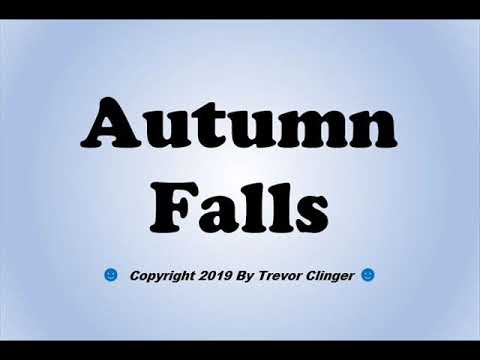 How To Pronounce Autumn Falls - 동영상