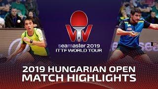 Hugo Calderano vs Kristian Karlsson | 2019 ITTF World Tour Hungarian Open Highlights (R16)
