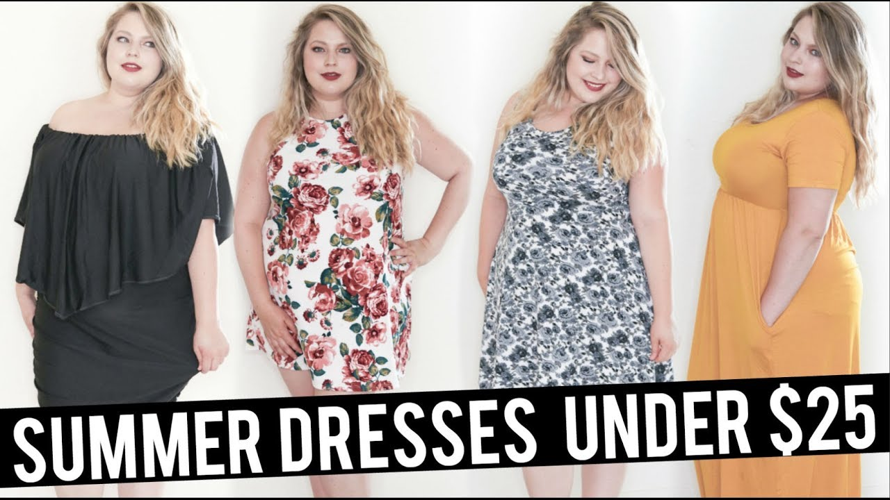 ⭐5 DRESSES UNDER $25!! ⭐ | Plus Size Amazon Haul | Summer 2018