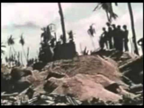 With The Marines In Tarawa Color WW 2 Film, Part 2