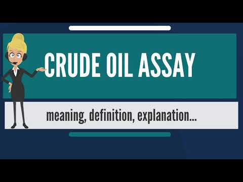 What is CRUDE OIL ASSAY? What does CRUDE OIL ASSAY mean? CRUDE OIL ASSAY  meaning & explanation
