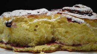 Дрожжевой Пирог со Смородиновым Вареньем   Просто, Быстро, Вкусно   Yeast Cake