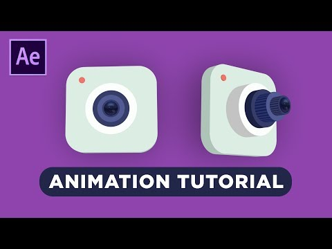 3D Camera Icon Animation in After Effects Tutorial - No Third Party Plugin