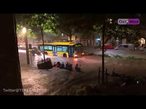 Барселону затопило: сильные