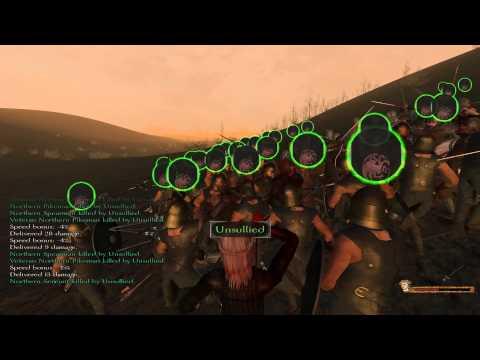 100 Unsullied Vs King Robb Stark - Warband