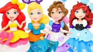 4 NEW Disney Princess Little Kingdom Dolls - Ariel * Cinderella * Belle * Merida