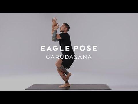 how you can do bald eagle pose garudasana  fitness tips