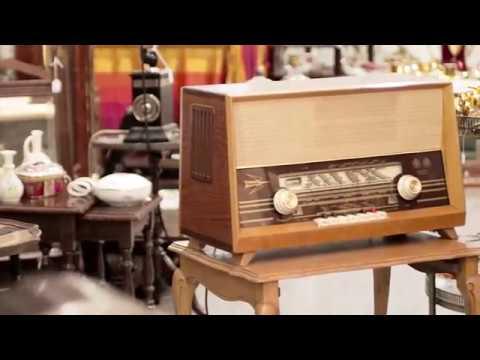 Antigua radio alemán, funcionando