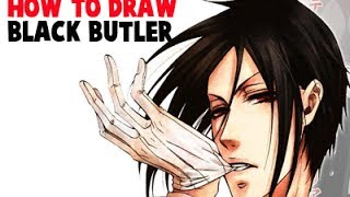 How to Draw Sebastian Michaelis from Black Butler