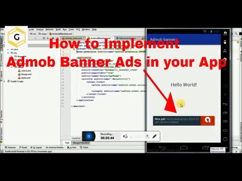 How to Implement Admob Banner Ads in your App.