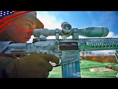 自衛隊と米海兵隊の前哨スナイパー射撃訓練 (M40, M24, SR-25 狙撃銃)