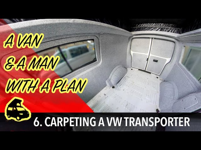 Carpeting a VW transporter & making carpeted window frames