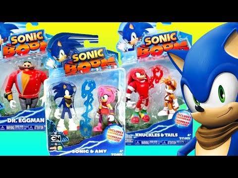 Best Learning Video For Children - Opening New Sonic Boom Toys Knuckles Tails Eggman