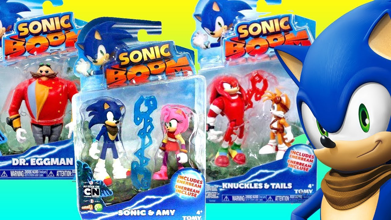 Best Learning Video For Children Opening New Sonic Boom Toys Knuckles Tails Eggman Youtube