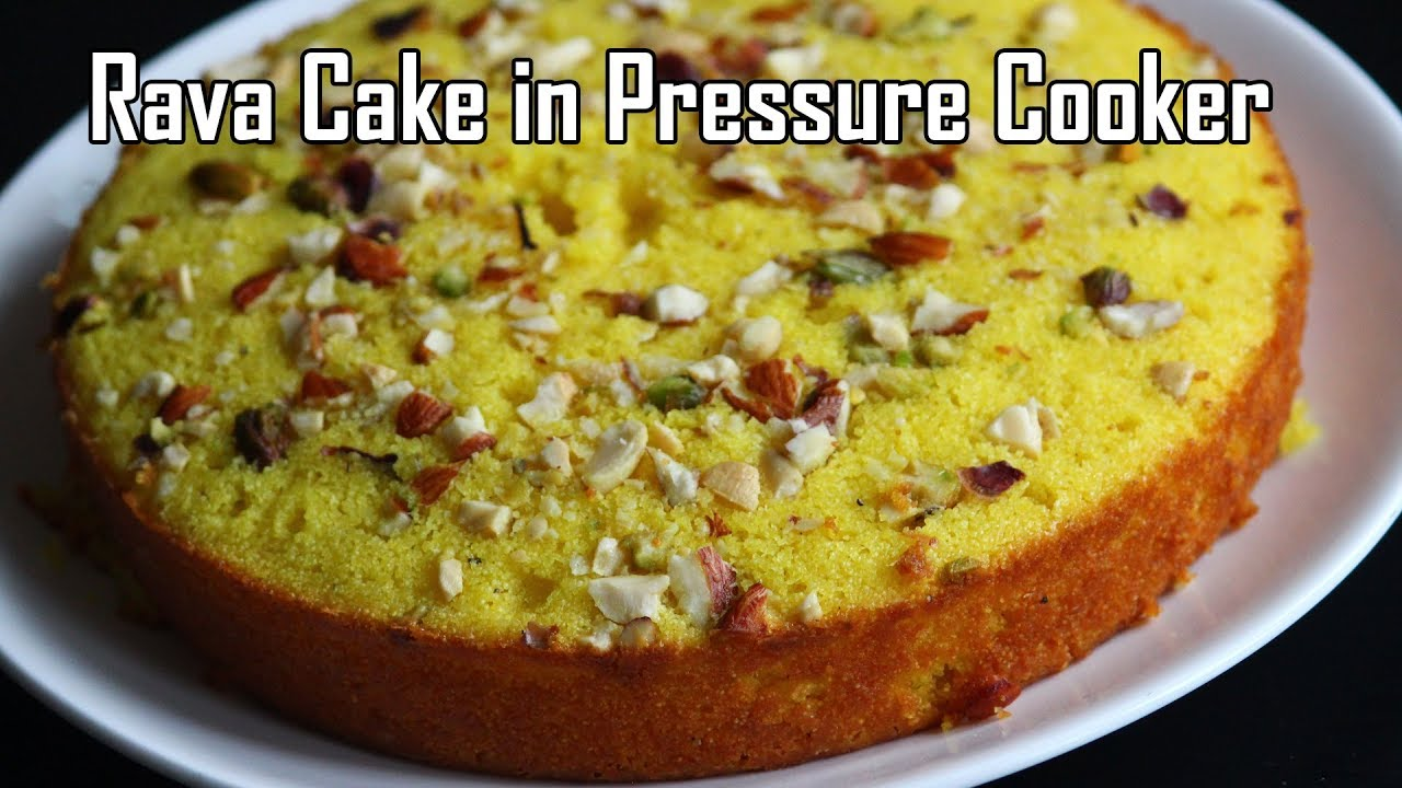 Cake Recipes In Telugu Without Oven: Rava Cake In Pressure Cooker/Suji Cake Recipe-quick And