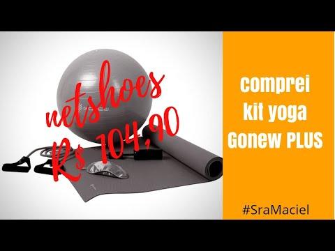 Comprei o Kit yoga Gonew Plus - PINK / PILATES EM CASA | Sra. MACIEL