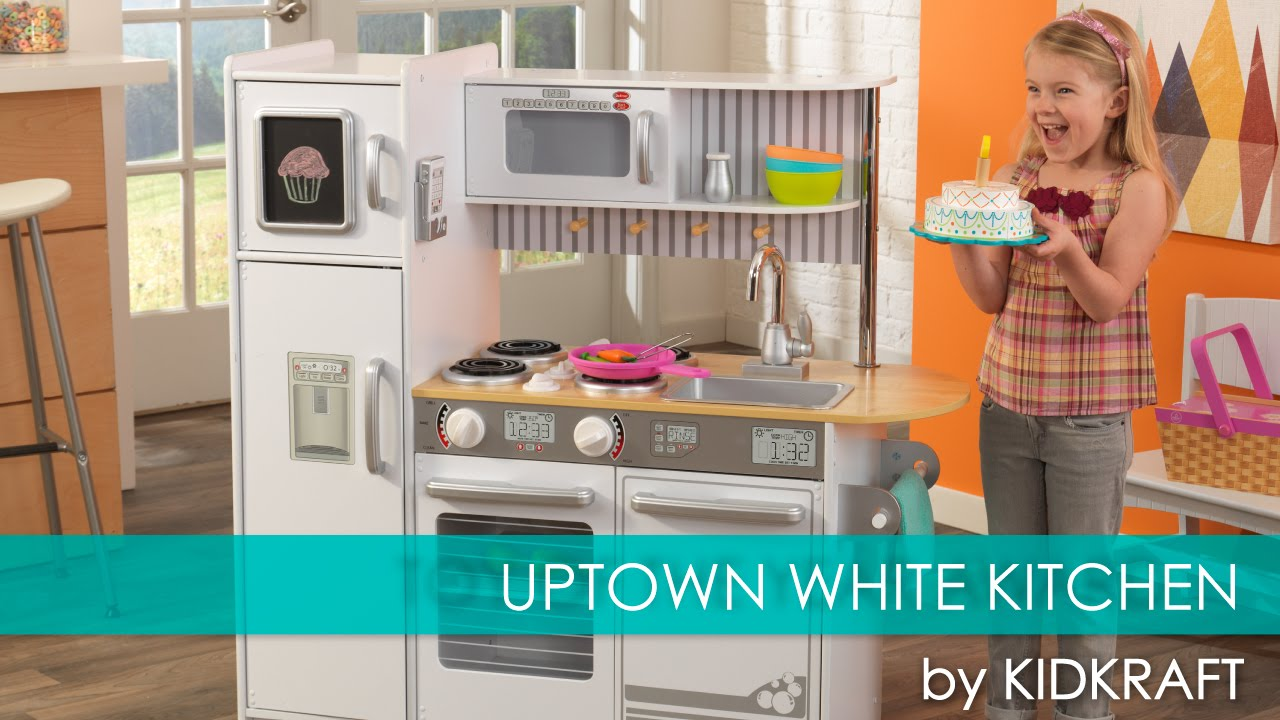Childrenu0027s Uptown White Play Kitchen For Lilu0027 Chefs   Toy Review   YouTube
