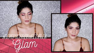 Affordable, Simple Glam Makeup Tutorial | Under ₹500 | Shreya Jain