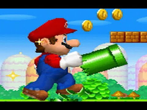 New Super Mario Bros. DS - 100% Full Game Walkthrough (All Star Coins & Secret Exits)