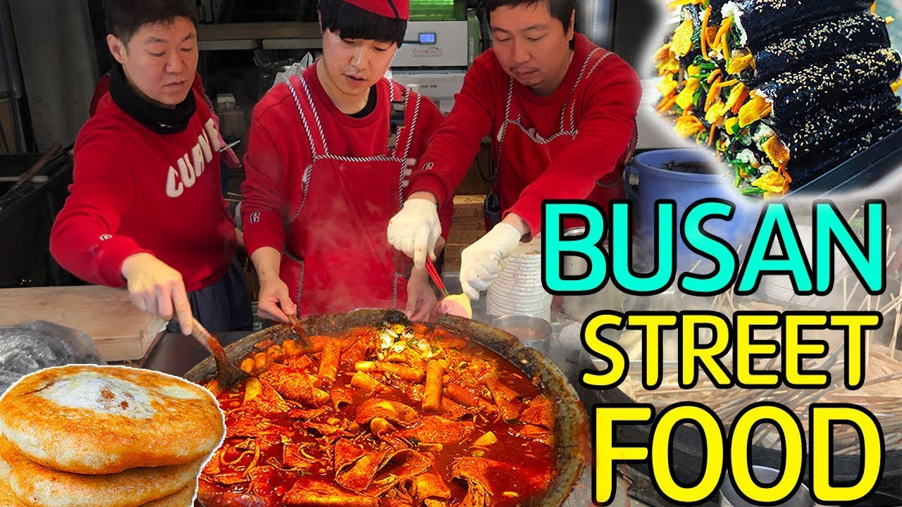 TRADITIONELLE koreanische STREET FOOD Market Tour in Busan Südkorea video