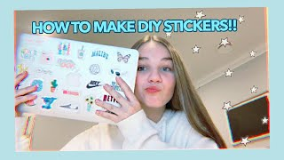 Making My Macbook Aesthetic + How To Make DIY Stickers