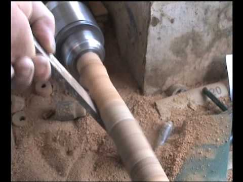 The Building Of A David Norwich Salmon Fly Rod Handle.wmv