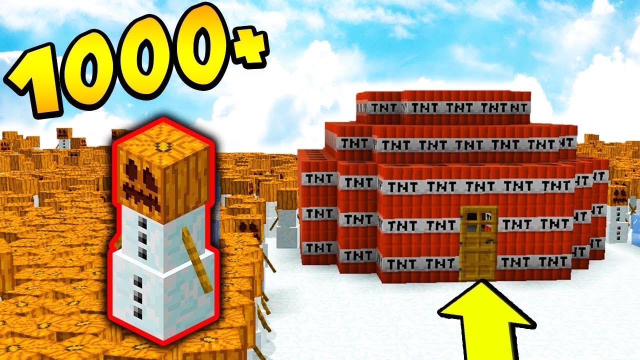 1000 BAŁWANÓW vs IGLO z TNT!!! – MINECRAFT APOKALIPSA #29