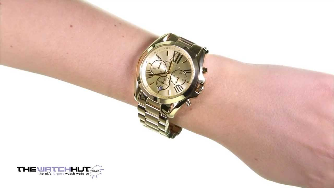Michael Kors Las Chronograph Gold Tone Steel Bracelet Watch Mk5605 You