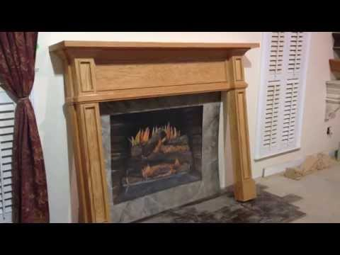 The Tampa Mantel - Mission Style Custom Fireplace Mantel