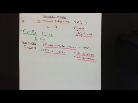 Simple Groups