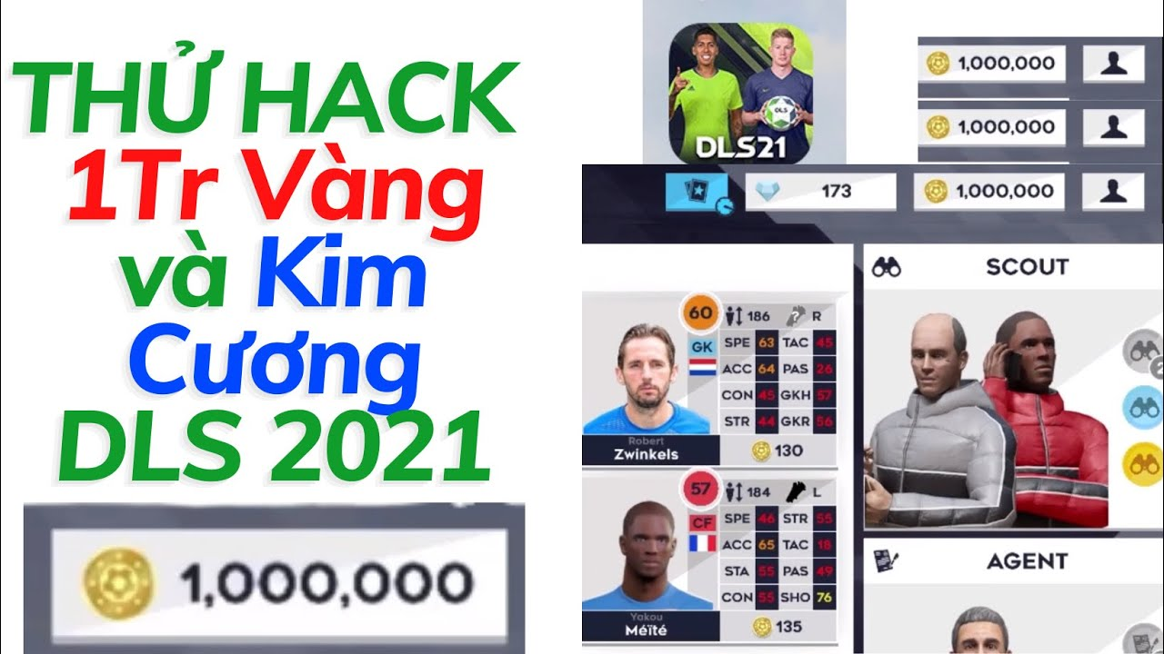 Thử Hack Vàng Kim Cương Dream League Soccer 2021 cho IOS/ANDROID (New)