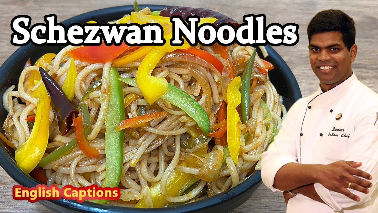 How to Make Schezwan Noodles | Noodle Recipe In Tamil | Fast Food |  CDK #243 | Chef Deena's Kitchen