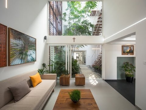 Gorgeous Home Split By A Covered Garden Atrium