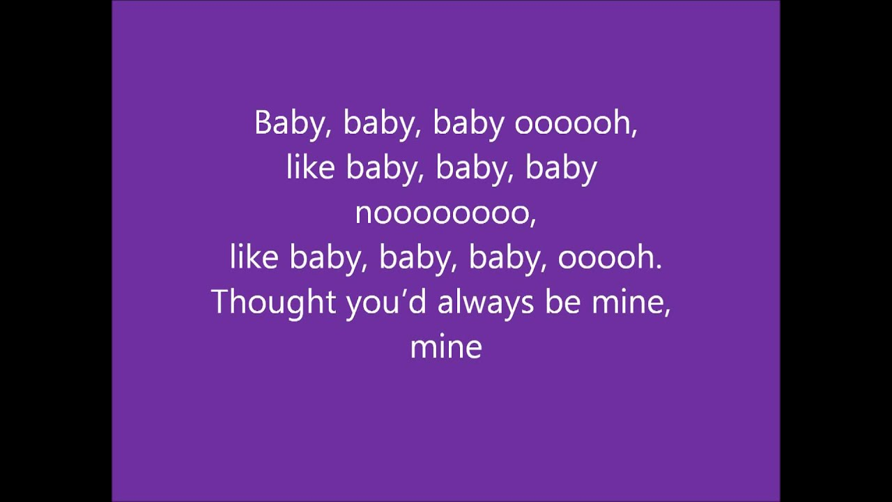 justin bieber baby lyrics - YouTube