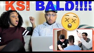 KSI 'BALDSKI' : KSI GOES BALD Reaction!!!