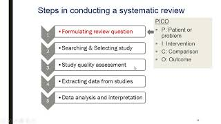 Systematic review, an introduction