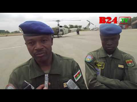 Burkina : Test d'un des deux hélicoptères offerts à l'Armée de l'air